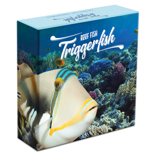 Reef Fish - Triggerfish 1oz Silver Coin Box