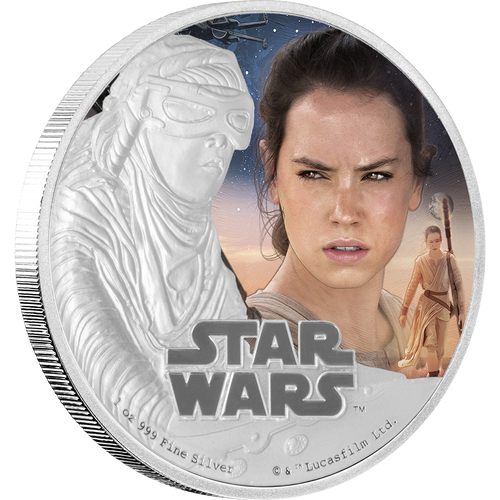Star Wars: The Force Awakens - Rey™ 1oz Silver Coin