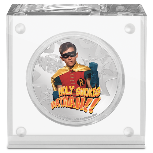BATMAN™ '66 - ROBIN™ 1oz Silver Coin Display