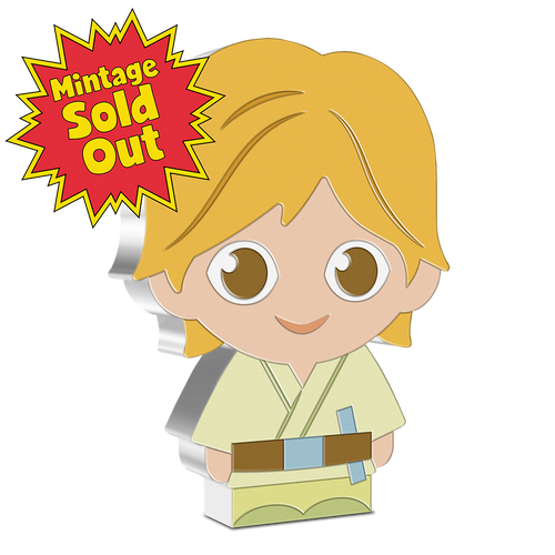 SOLD OUT! Chibi™ Coin Collection Star Wars™ Series – Luke Skywalker™  1oz Silver Coin NZ Mint