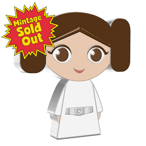 SOLD OUT! Chibi™ Coin Collection Star Wars™ Series – Princess Leia™ 1oz Silver Coin | Sold Out! | NZ Mint