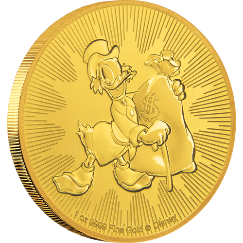 1oz Gold Bullion Coin Disney Scrooge McDuck 2018