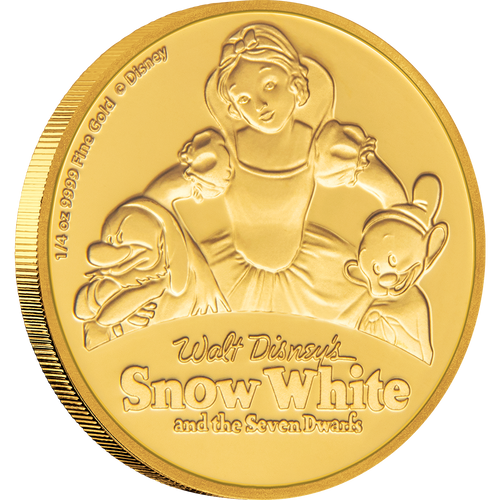 Snow White and the Seven Dwarfs 80th Anniversary 1/4oz Gold Coin