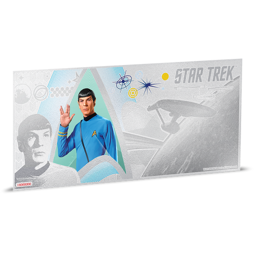 Star Trek Original Series - Commander Spock 5g Silver Coin Note