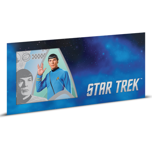 Star Trek Original Series - Commander Spock 5g Silver Coin Note Sleeve