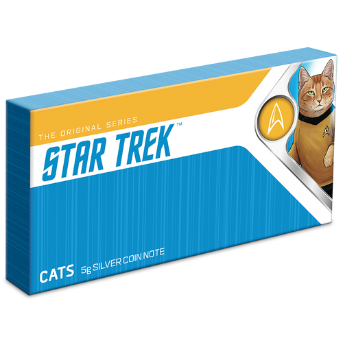 Star Trek Cats 5g Silver Coin Note Box