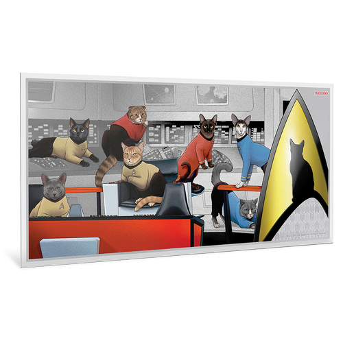 Star Trek Cats 5g Silver Coin Note