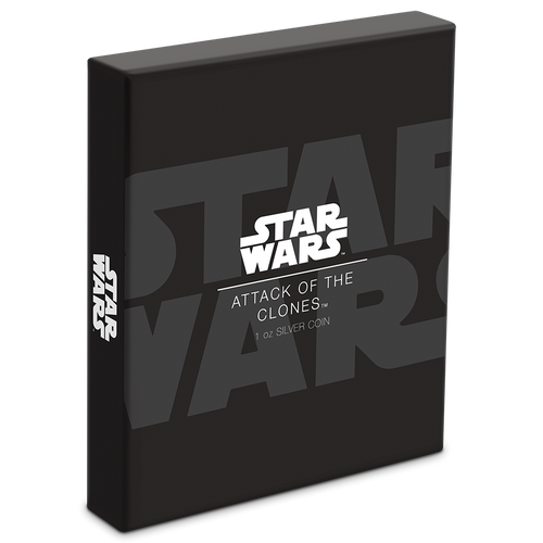 Star Wars: Attack of the Clones 1oz Silver Coin Box