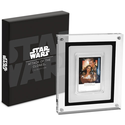 Star Wars: Attack of the Clones 1oz Silver Coin Packaging