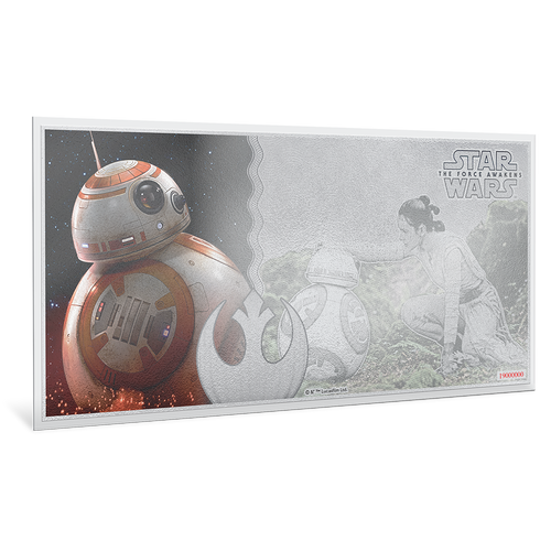 Star Wars: The Force Awakens - BB-8™ 5g Silver Coin Note