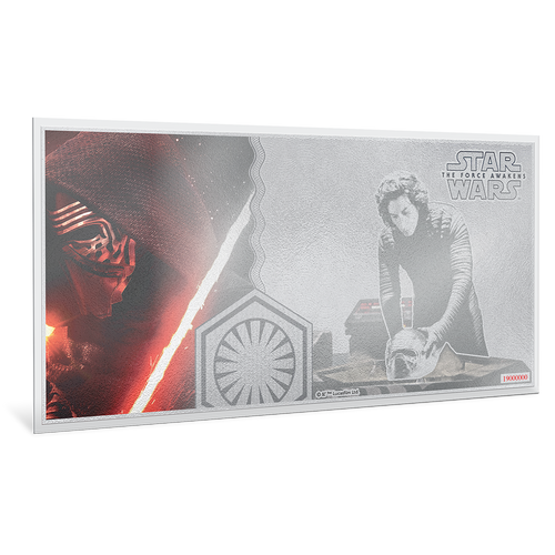 Star Wars: The Force Awakens - Kylo Ren™ 5g Silver Coin Note