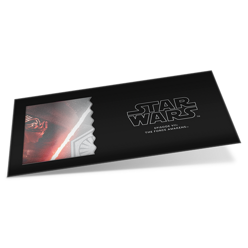Star Wars: The Force Awakens - Kylo Ren™ 5g Silver Coin Note Sleeve