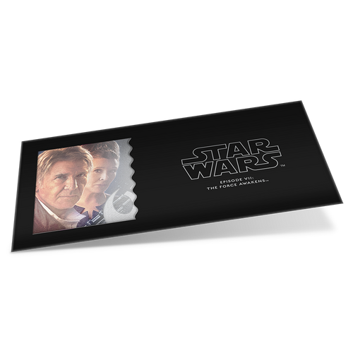 Star Wars: The Force Awakens - Leia Organa™ & Han Solo™ 5g Silver Coin Note Sleeve