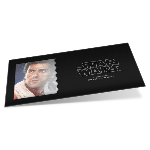 Star Wars: The Force Awakens - Poe Dameron™ 5g Silver Coin Note Sleeve