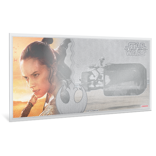 Star Wars: The Force Awakens - Rey™ 5g Silver Coin Note
