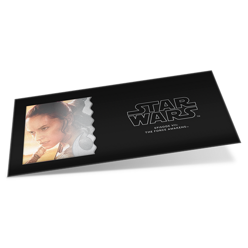 Star Wars: The Force Awakens - Rey™ 5g Silver Coin Note Plus Collector's Album Sleeve
