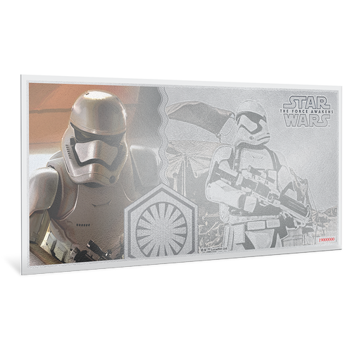 Star Wars: The Force Awakens - Stormtrooper™ 5g Silver Coin Note