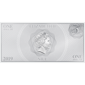 Star Wars: The Force Awakens - Leia Organa™ & Han Solo™ 5g Silver Coin Note Obverse