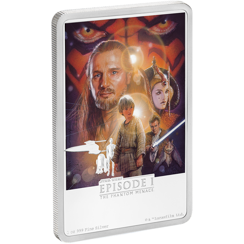 Star Wars: The Phantom Menace 1oz Silver Coin