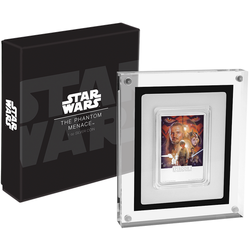 Star Wars: The Phantom Menace 1oz Silver Coin Packaging