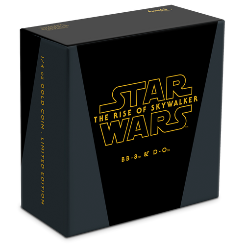 Star Wars: The Rise Of Skywalker - BB8 & D-O 1/4oz Gold Coin Box