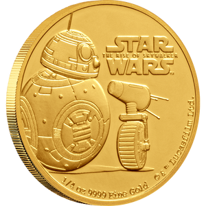 Star Wars: The Rise Of Skywalker - BB8 & D-O 1/4oz Gold Coin