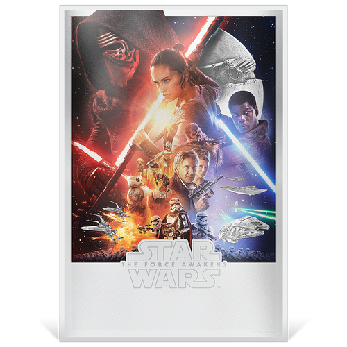 Star Wars: The Force Awakens 35g Premium Silver Foil Base