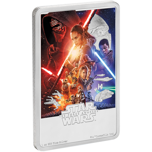 Star Wars: The Force Awakens 1oz Silver Coin