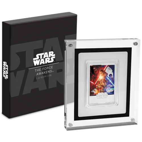 Star Wars: The Force Awakens 1oz Silver Coin Packaging