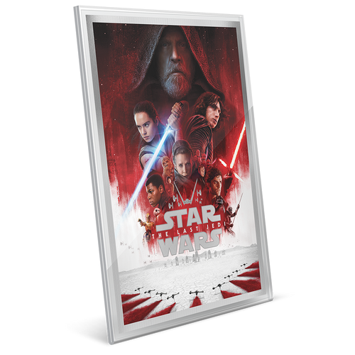 Star Wars: The Last Jedi - 35g Premium Silver Foil Perspex Display