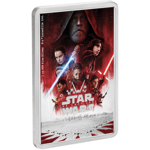 Star Wars: The Last Jedi 1oz Silver Coin