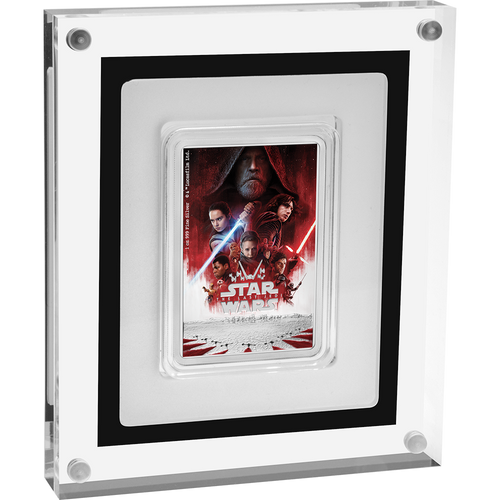 Star Wars: The Last Jedi 1oz Silver Coin Display