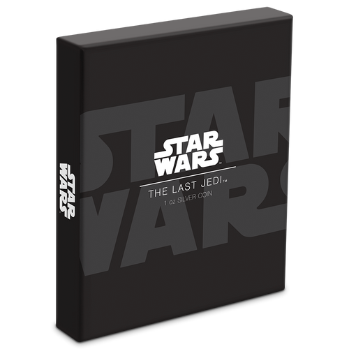 Star Wars: The Last Jedi 1oz Silver Coin Box