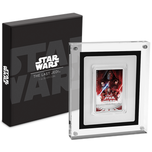 Star Wars: The Last Jedi 1oz Silver Coin Packaging