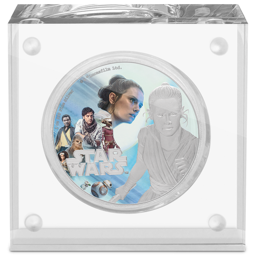 Star Wars: The Rise of Skywalker - Rey™ 1oz Silver Coin Inner Perspex Packaging