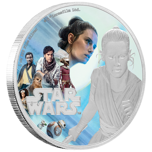 Star Wars: The Rise of Skywalker - Rey™ 1oz Silver Coin Front