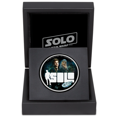 Star Wars™: Solo - A Star Wars Story 1oz Silver Coin Packaging