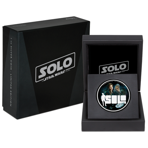 Star Wars™: Solo - A Star Wars Story 1oz Silver Coin Presentation Box