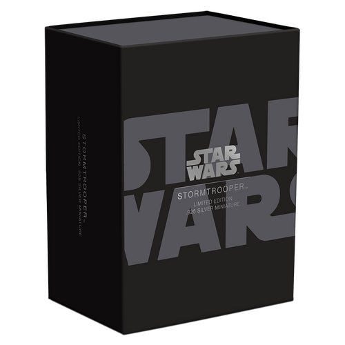 Star Wars – Stormtrooper™ 130g Silver Miniature Box