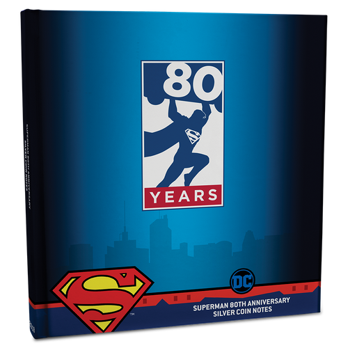 SUPERMAN™ 80th Anniversary Silver Coin Note Collection Album