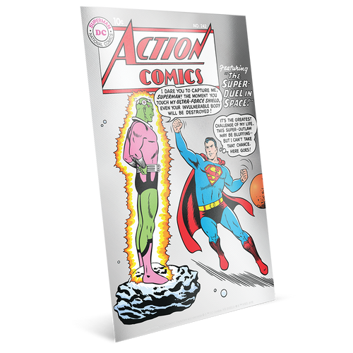 SUPERMAN™ 80th Anniversary Silver Coin Note Collection Action Comics