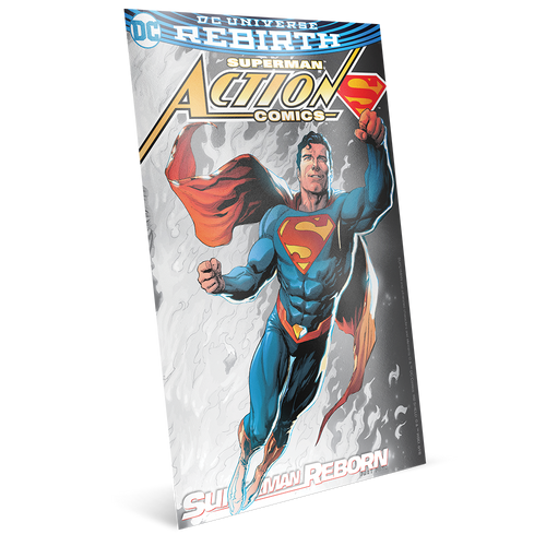 SUPERMAN™ 80th Anniversary Silver Coin Note Collection Superman Reborn
