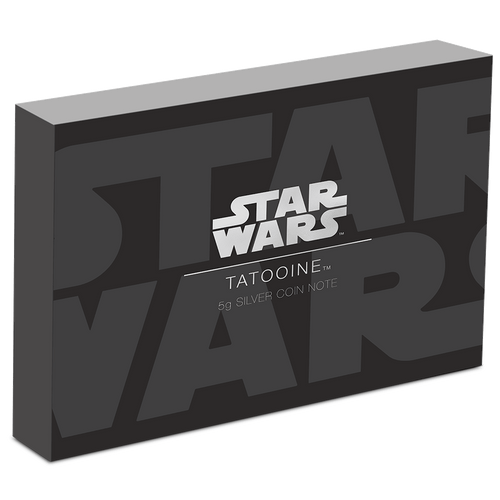 Star Wars: Tatooine 5g Silver Coin Note Box