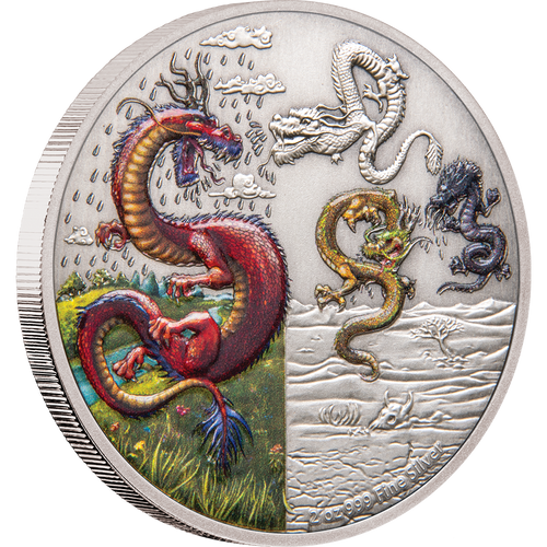 Dragons - The Four Dragons 2oz Silver Coin