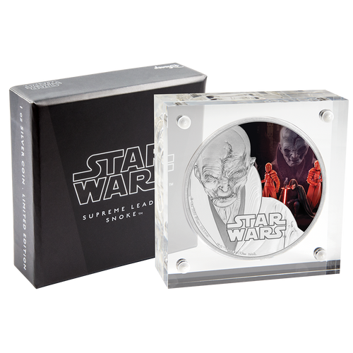 Star Wars: The Last Jedi - Supreme Leader Snoke™ 1oz Silver Coin Packaging