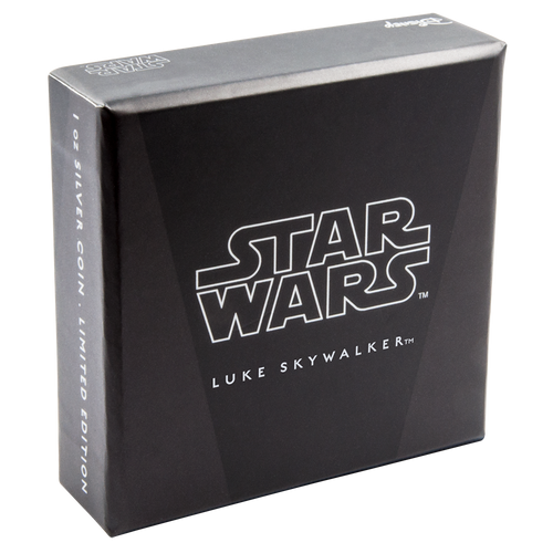 Star Wars: The Last Jedi - Luke Skywalker™ 1oz Silver Coin Box