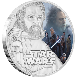 Star Wars: The Last Jedi - Luke Skywalker™ 1oz Silver Coin