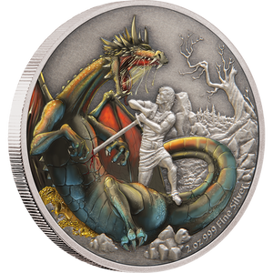 Dragons - The Norse Dragon 2oz Silver Coin