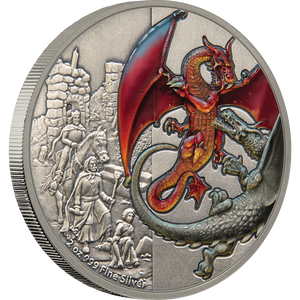 Dragons - The Red Dragon 2oz Silver Coin