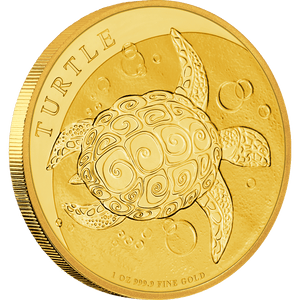 1oz Gold Bullion Coin featuring Taku turtle